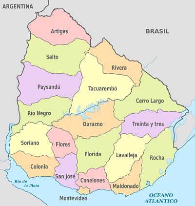 Lista de todos los departamentos de Uruguay y sus capitales
