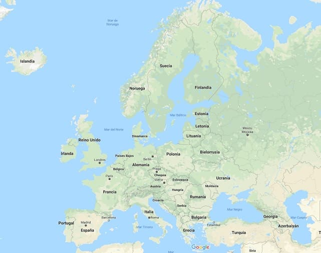 Mapa De Europa Paises Y Capitales En Español.Paises De Europa Y Sus Capitales Paises Europeos Y